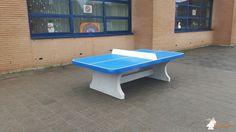 Pingpongtafel Afgerond Blauw bij Basisschool De Regenboog in Schiedam