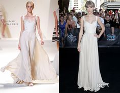 Taylor Swift is killing it in  Elie Saab. I love how this chicks fashion style has progressed over time. She's spot on almost every time.