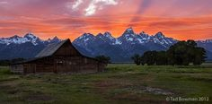 Grand Teton Sunset with Moulton barn
