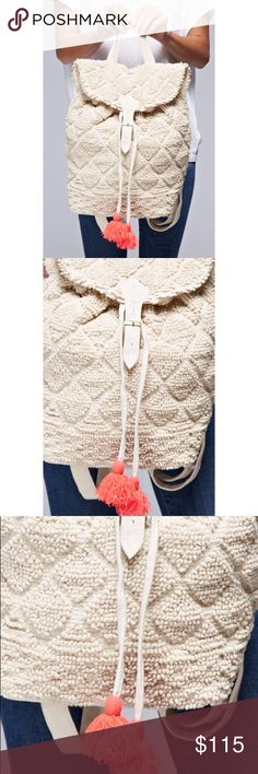 Knotted Yarn Backpack with Tassels Brand new! Super cute! Straps are adjustable. 15% off of bundles! FEEL LIKE MAKING AN OFFER? Please do it through the make an offer feature as I will no longer negotiate prices in the comments section. PRICE IS FINAL ON ITEMS $15 or less unless bundled. Bags Backpacks