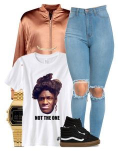"""""""Untitled #945"""" by trinsowavy ❤ liked on Polyvore featuring Boohoo, Casio, Vans and Charlotte Russe"""