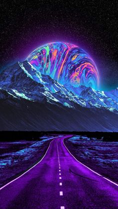 Extraterrestrial Road - IPhone Wallpapers
