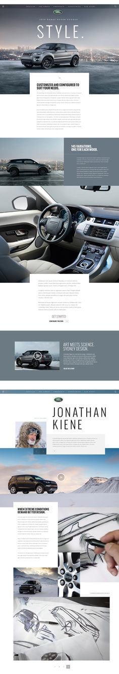 As Land Rover enters a new chapter and continues to evolve their range of vehicles, so too must their online presence. The below are high level explorations around their visual language and pushing their layout and interaction framework from what they hav…