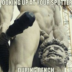 """Spotting is a integral part of a gym community and is what separates a """"real"""" gym from the fake gyms. Gym Memes, Gym Humor, Workout Humor, Bodybuilding Memes, Powerlifting Motivation, Bench Press, Gym Rat, Fitness Quotes, Paleo Diet"""
