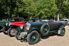 1931 Bentley 4 1/2 litre Van den Plas Supercharged Sports Tourer and 1932 Bugatti Type 50T Coach Profilée at St. James's Concours of Elegance 2013
