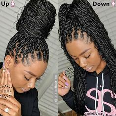 Cute Hairstyles For Medium Hair, Cute Braided Hairstyles, Braided Hairstyles For Black Women, Box Braids Hairstyles, Protective Hairstyles, Summer Hairstyles, Pretty Hairstyles, Medium Hair Styles, Natural Hair Styles