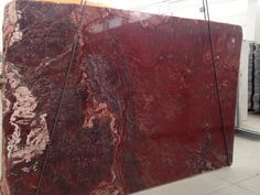 Red onyx and travertine
