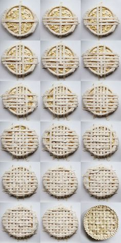 DIY lattice pie crust via elephantine. Cupcakes, Cupcake Cakes, Lattice Pie Crust, Lattice Top, Lattice Design, Just Desserts, Dessert Recipes, Pie Crust Designs, Treats