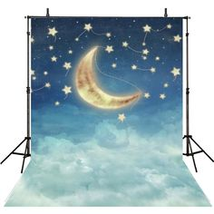 Moon Photography Backdrops Twinkle Twinkle Little Stars Vinyl Photography For Backdrop For Kids Digital Printed Photo Backgrounds For Photo Studio Baby Shower Photography, Moon Photography, Photography Backdrops, Photography Ideas, Stars At Night, Stars And Moon, Balloon Clouds, Star Cloud, Star Background