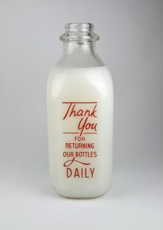 I started having the milk delivered because  I loved the cute milk bottles and it was a really fun old school idea... now the girls will ONLY drink milk man milk!
