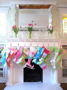 Lilly Pulitzer Stockings - https://www.etsy.com/shop/amilesdesigns?section_id=14187967&ref=shopsection_leftnav_2