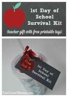 This is an easy and inexpensive teacher gift that is perfect for the first day of school. FREE printable tags included!