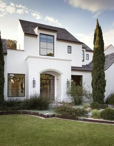 White exterior with