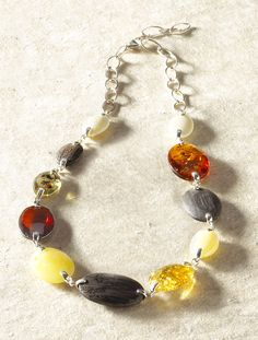Amber & Black Oak Necklace, Necklaces, Jewelry - The Museum Shop of The Art Institute of Chicago