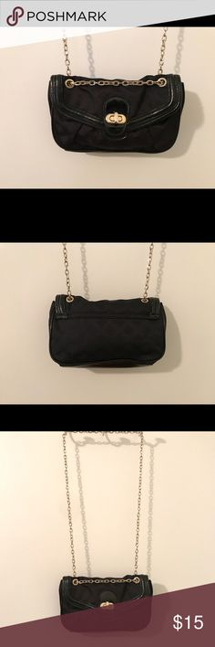 Express Small  Black Gold Chained Purse Small Black Chained Purse Express Bags Crossbody Bags