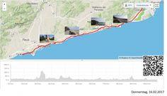 Wieder am Meer  Vollständiger Bericht bei: http://agu.li/SC  Nach dem ich aus Barcelona raus war, musste ich noch einen richtigen Hügel (200 Meter über Meer) bezwingen. Danach wurde es flach. Ich hatte Zeit für eine Wellnesspflege am Rad und um mich auch kulturell etwas weiter zu bilden. Das GPS meint: 107.64 KM und 654 Höhenmeter.