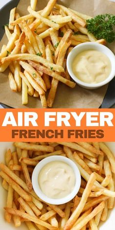 Air Fryer Frozen French Fries are the very best way to make french fries! Extra crispy on the outside and tender on the inside. Use your favourite fries. Crispy French Fries, French Fries Recipe, Homemade French Fries, Air Fryer Fries, Air Fryer French Fries, Air Fryer Dinner Recipes, Air Fryer Recipes Easy, Crockpot Recipes, Healthy Recipes