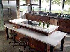 Modern White Granite Kitchen Countertop Design