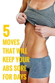 Uncommon abs exercises that are effective and will keep your abs sore for days. #abs #fitness #workout #health