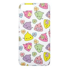 Cute Poopies Valentine's Conversation Hearts Phone Case by CindyMakes on Zazzle  @zazzle #phone #cases #iphone #samsung #galaxy #apple #fun #cool #hip #shop #buy #sale #funny #illustration #drawing #cute #color #red #purple #yellow #pink #green #hearts #poop #sweet