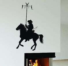 Wall Stickers Mongolian Warrior Rider Nomad Art Mural Vinyl Decal Unique Gift (ig1974)