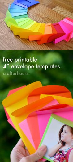 "All the Colors! Astrobrights, Free 4"" envelope templates Printable + GIVEAWAY"