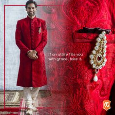 Dupian Sherwani with intricate machine and hand embroidery -