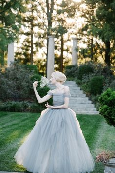 dove grey fairytale wedding dress by @Sareh Baca Nouri / photo by @Amelia Stone batista
