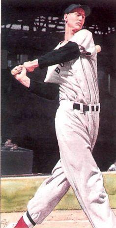 """C.F. Payne's story illustration """"Baseball's Splendid Splinter"""" 1991."""