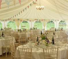 Marquee wedding - The Garden Barn
