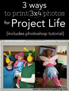 Photoshop Tutorials and other ways to get 3x4 prints for your Project Life books! #photoshop #projectlife