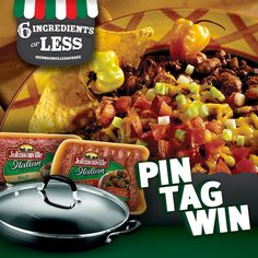 PIN it & Win it!  6 ingredients or less with Johnsonville sausage.  #6IngredientsOrLess with #JohnsonvilleSausage #AllstarsJville