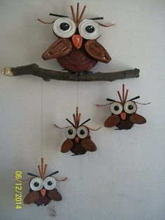 owl from newspaper. recycled product