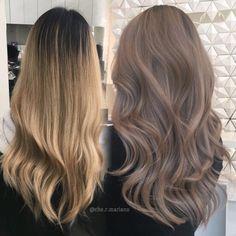 The one on the left Yess- Der auf der linken Seite Ja - - Farbe Frisuren - Hair Ash Brown Hair Color, Brown Blonde Hair, Brunette Hair, Light Ash Brown Hair, Ombre Brown, Light Brown Hair Colors, Ashy Hair, Cool Tone Brown Hair, Brown Brown
