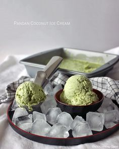 Pandan Coconut Ice Cream | Dailycookingquest