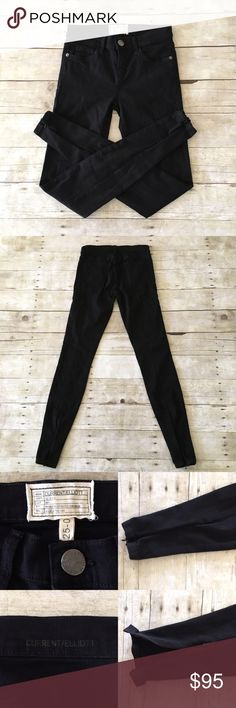 Current/Elliot Skinny Jeans 💋 Current/Elliott Black Skinny Jeans 💋 Size: 25-0 Inseam: 30in Condition: Lightly Used The perfect fall jeans 🍂 very soft, they feature back bottom ankle zippers. These are perfect to pair with boots or your fav heels. Every girl should own a pair of black skinny jeans! They are not faded, no stains and no tears. In really good condition. These retail for $170+ tax at sax ❤️ In Bin: BA **All items from my closet come from a SMOKE FREE home**🙅🏽😊…
