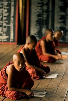 Novice Monks at Work