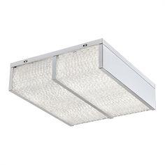 Varaluz 290S02CH Twisted Sistah LED 2-Light Flush Mount Ceiling Light
