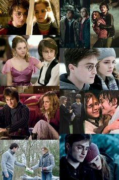 I've always loved Hermione and Harry to be together. I don't see it as the hero ending up with the girl because I just see their chemistry when they have vulnerable scenes together. Images Harry Potter, Harry Potter Girl, Harry Potter Tumblr, Harry Potter Outfits, Harry Potter Quotes, Harry Potter Hermione Granger, Harry And Hermione, Harry Potter Cast, Harry Potter Fandom