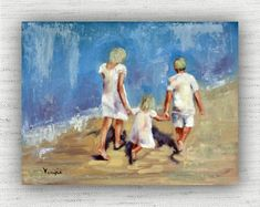 Us Three - Oil Painting Print Home Decor Wall Art Print on Wood Block Painting Prints, Wall Art Prints, Fine Art Prints, Oil Paintings, Seaside Art, Coastal Art, Nautical Art, Home Decor Wall Art, Large Wall Art