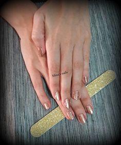 Kiriaki's gold mirror nails