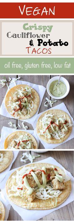 Crispy Cauliflower Tacos | www.veggiesdontbite | #plantbased #vegan #cauliflower…