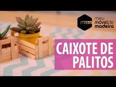 DIY Mini Caixote com palitos de picolé! - YouTube