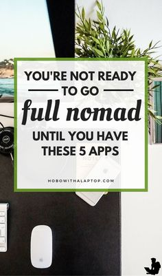 If you're already a digital nomad or are likely to become one soon, take a look at these five apps that many people like you are already using to make their dream of traveling possible and to use the given freedom to the fullest extent. Read more at Work Travel, Travel Tips, Travel Ideas, Travel Books, Travel Packing, Travel Essentials, Budget Travel, Travel Inspiration, Id Digital