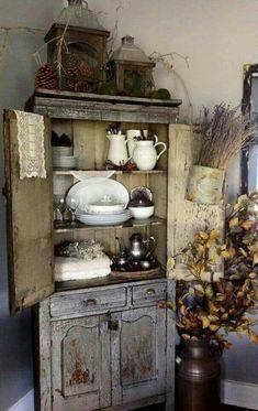Rustic farmhouse corner hutch