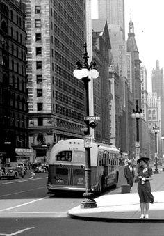 Michigan Ave., Chicago - 1940
