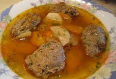 Májgombócleves ahogy Katharosz készíti Pork, Beef, Kale Stir Fry, Meat, Pork Chops, Steak