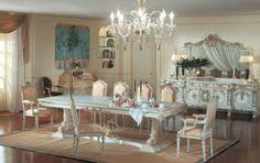 Sala da pranzo stile veneziano - Mobili chiari in stile veneziano