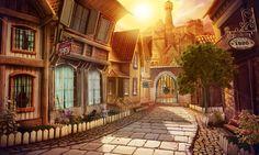 #street #sun #oldtown #pawingstone #art #gameart #gaming #gamedev #madheadgames #game