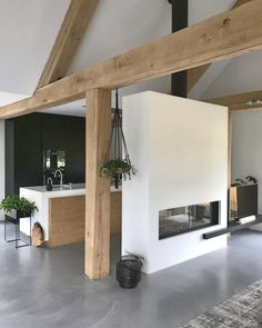 Wood House Design, Wood Bedroom Sets, Room Partition Designs, Warm Industrial, Wood Interiors, Dream Home Design, Küchen Design, Interior Design Tips, House In The Woods